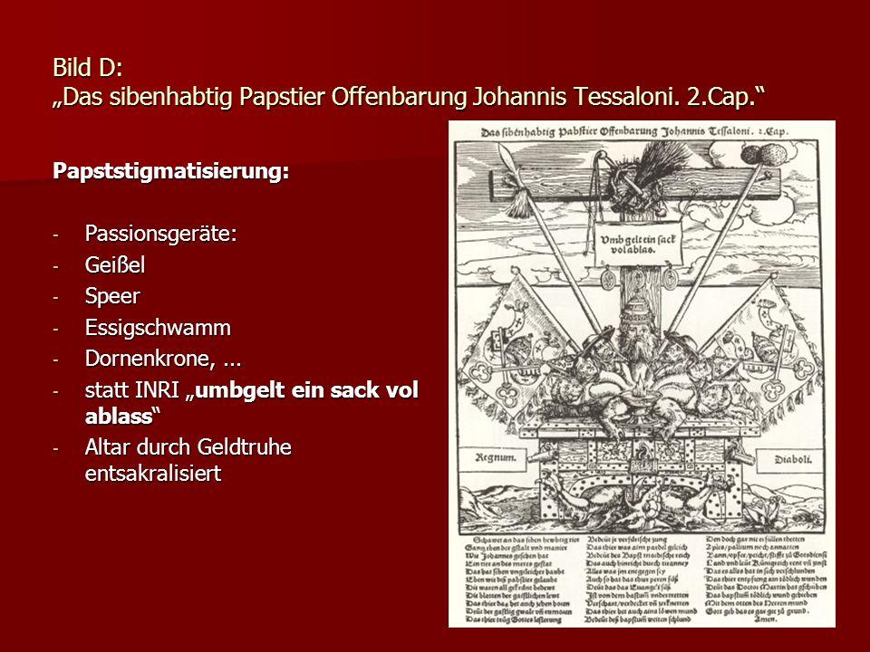 "Bild D: ""Das sibenhabtig Papstier Offenbarung Johannis Tessaloni. 2"