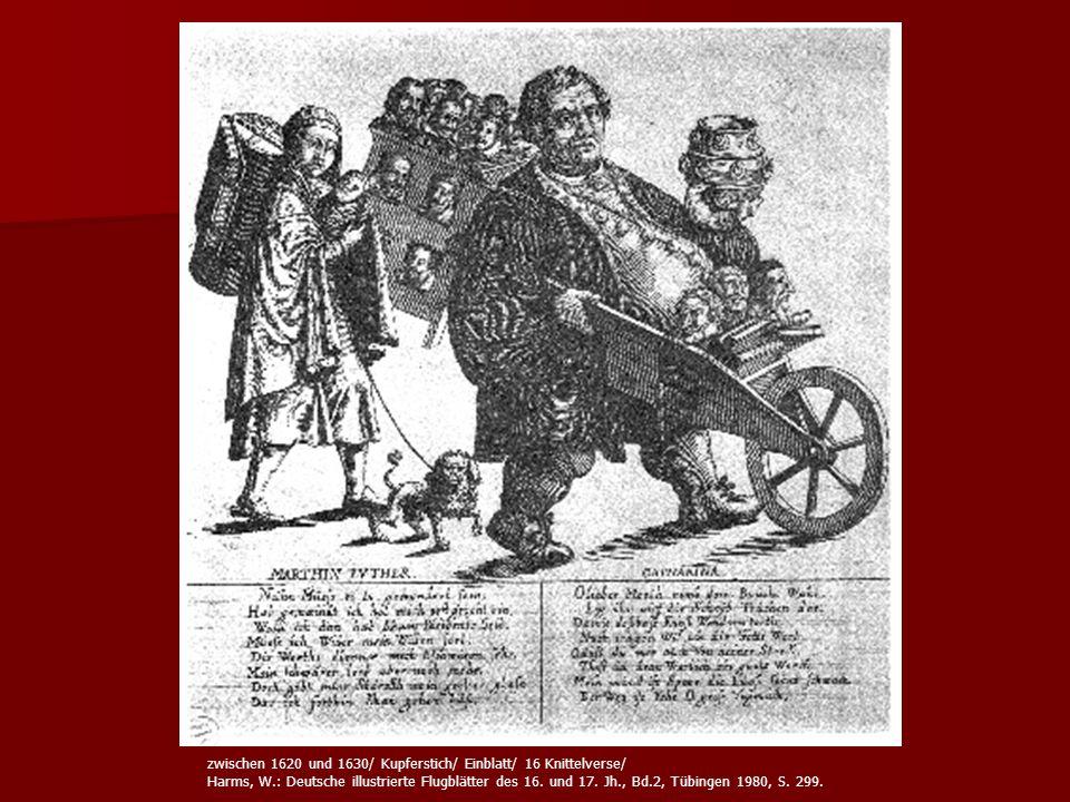 zwischen 1620 und 1630/ Kupferstich/ Einblatt/ 16 Knittelverse/