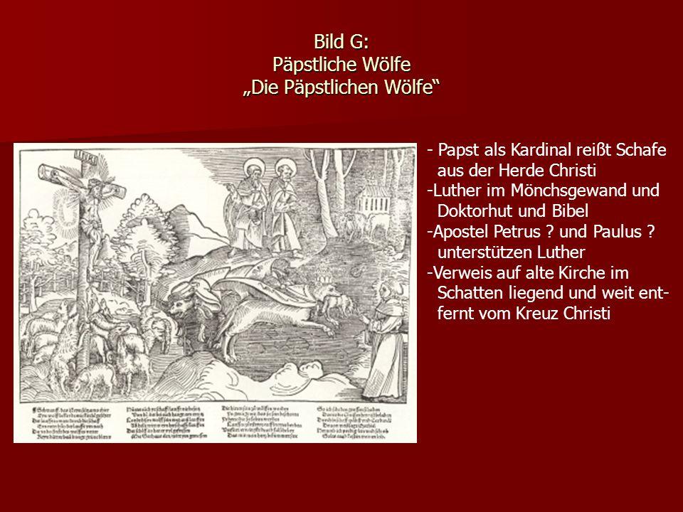 """Bild G: Päpstliche Wölfe """"Die Päpstlichen Wölfe"""