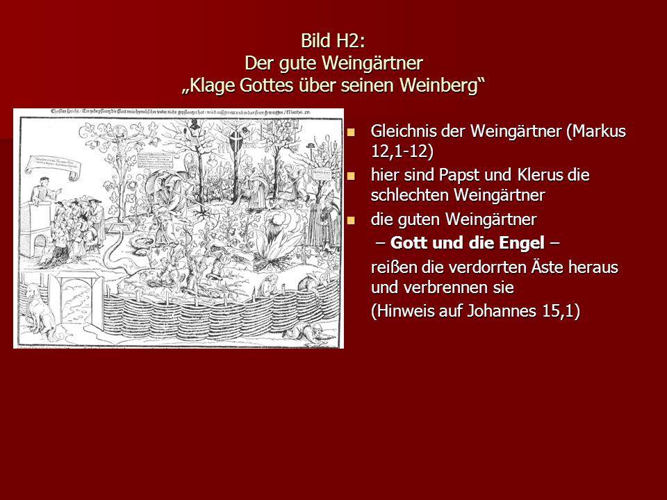 """Bild H2: Der gute Weingärtner """"Klage Gottes über seinen Weinberg"""