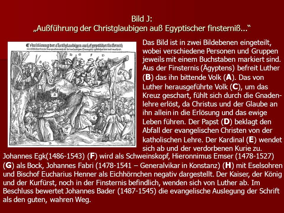 """Bild J: """"Außführung der Christglaubigen auß Egyptischer finsterniß..."""