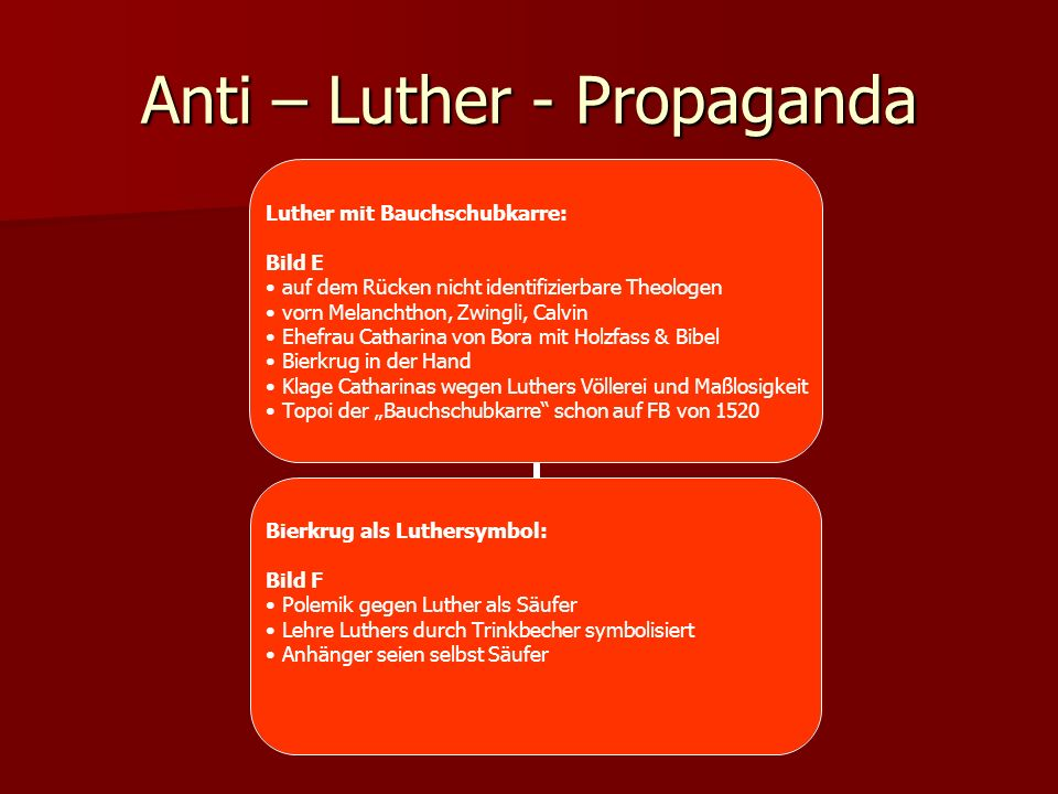Anti – Luther - Propaganda