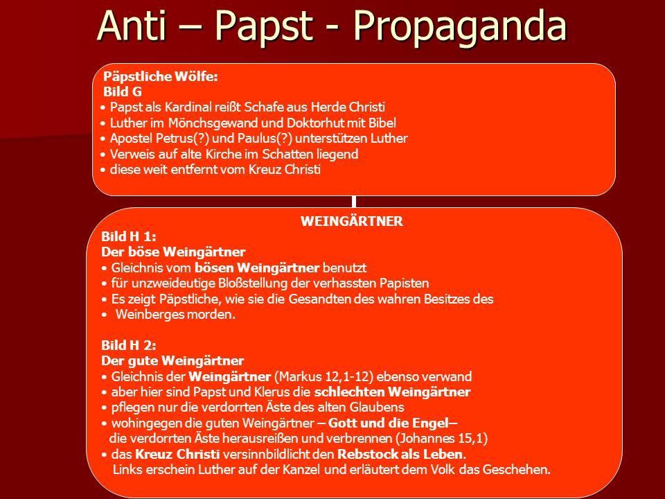 Anti – Papst - Propaganda