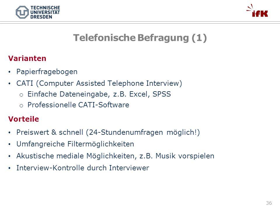 Telefonische Befragung (1)