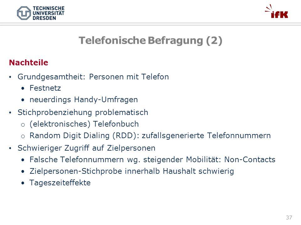 Telefonische Befragung (2)