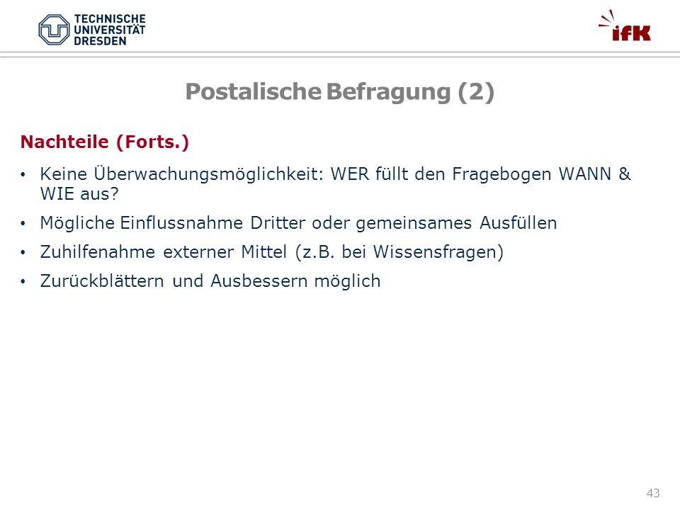 Postalische Befragung (2)