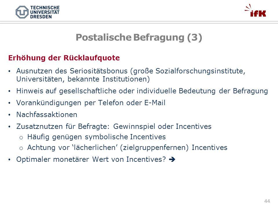 Postalische Befragung (3)