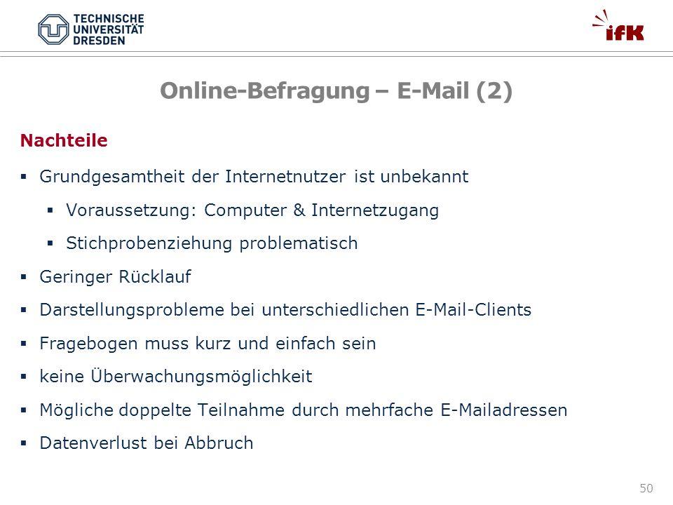 Online-Befragung – E-Mail (2)