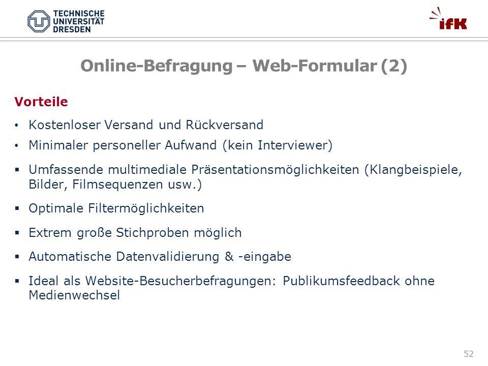 Online-Befragung – Web-Formular (2)