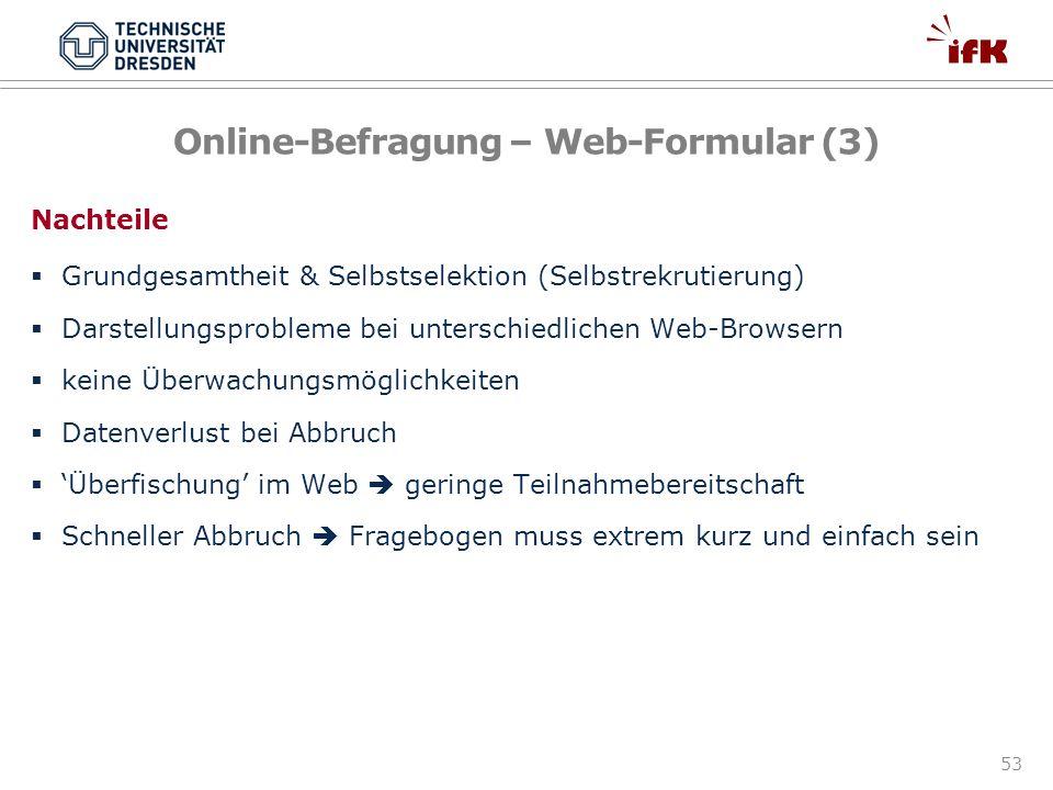 Online-Befragung – Web-Formular (3)