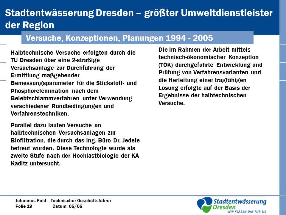 Versuche, Konzeptionen, Planungen 1994 - 2005