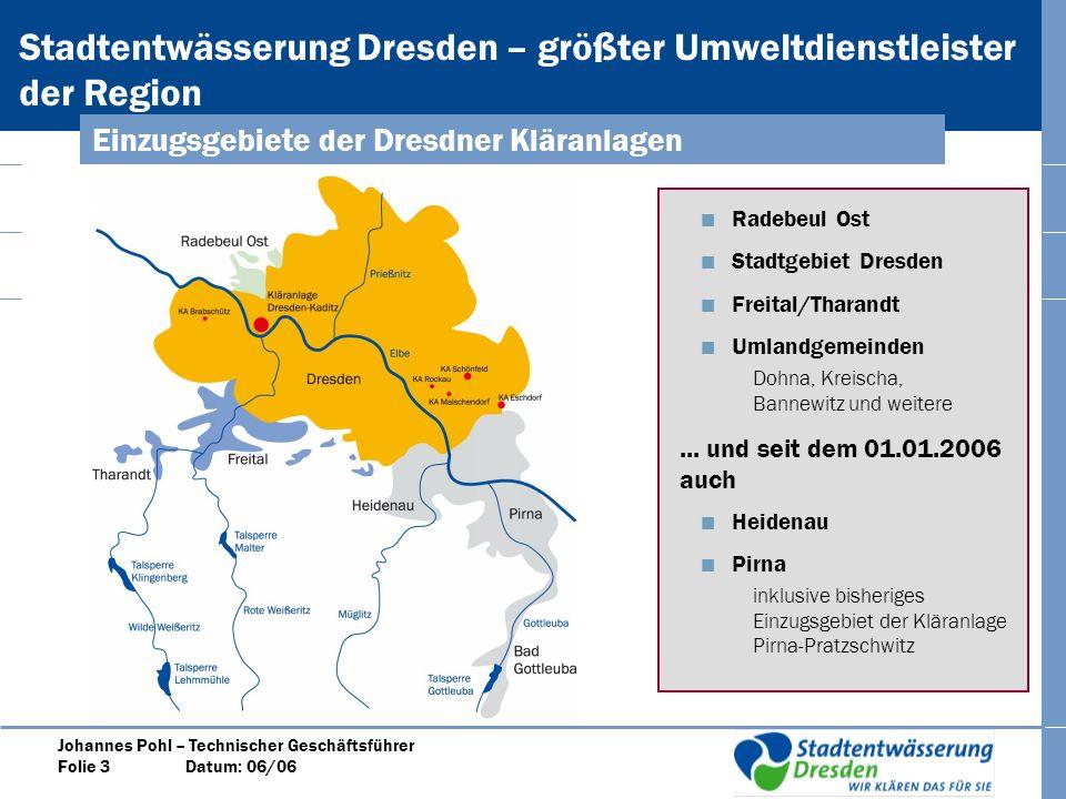 Einzugsgebiete der Dresdner Kläranlagen