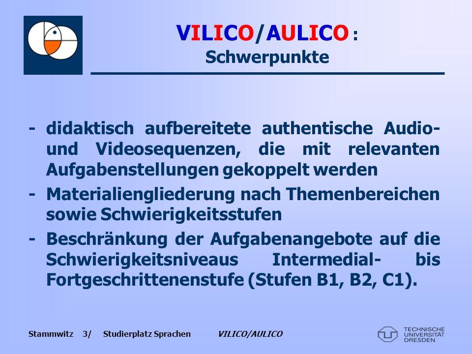 VILICO/AULICO : Schwerpunkte