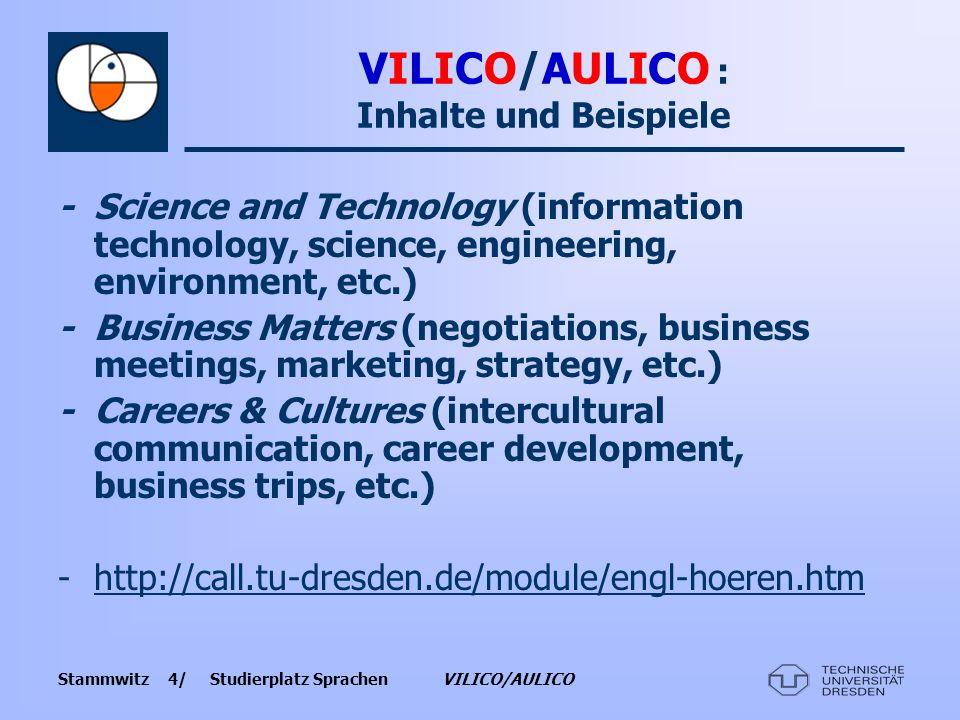VILICO/AULICO : Inhalte und Beispiele