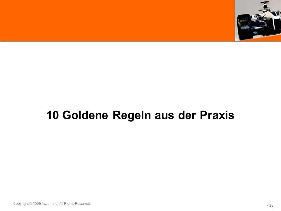 10 Goldene Regeln aus der Praxis