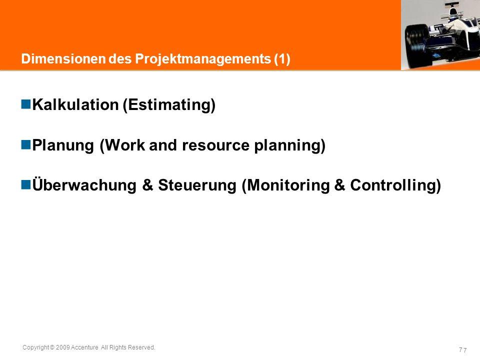 Dimensionen des Projektmanagements (1)