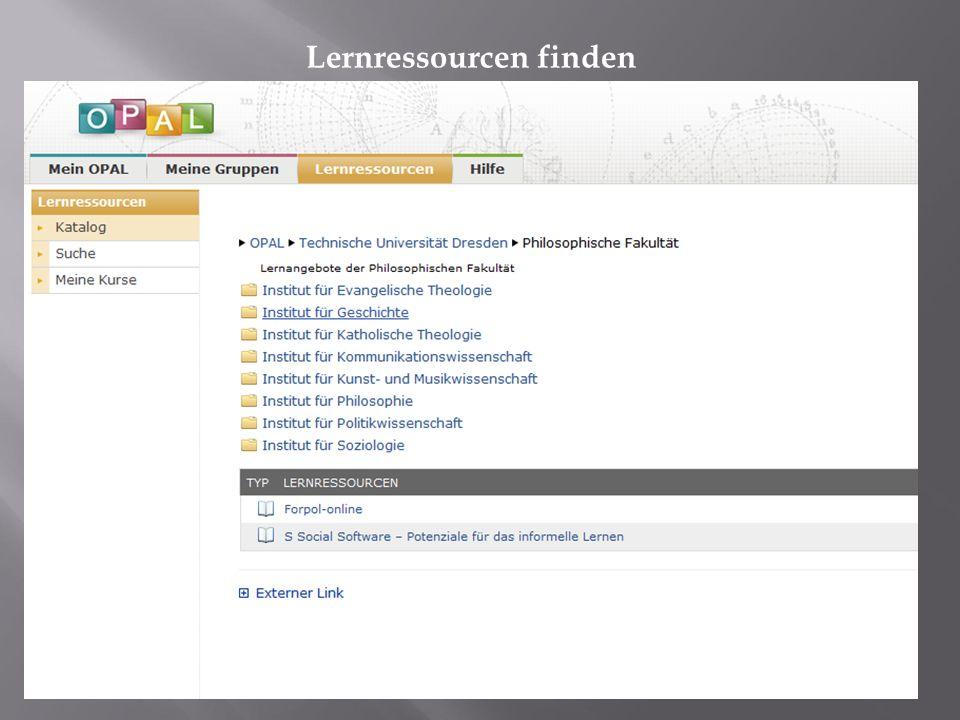 Lernressourcen finden