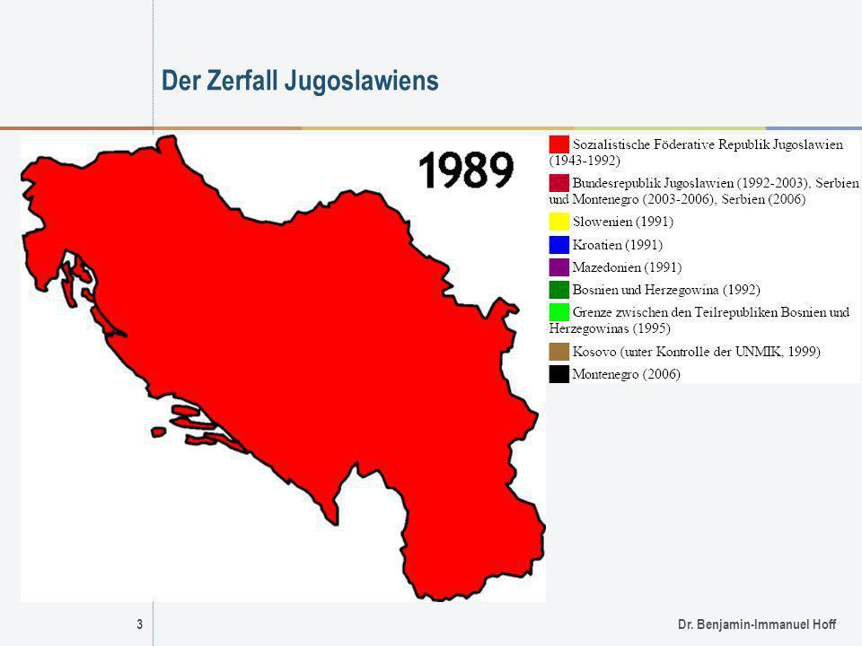 Der Zerfall Jugoslawiens