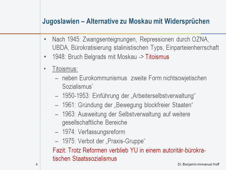 Jugoslawien – Alternative zu Moskau mit Widersprüchen