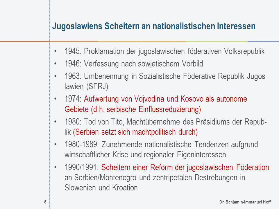 Jugoslawiens Scheitern an nationalistischen Interessen