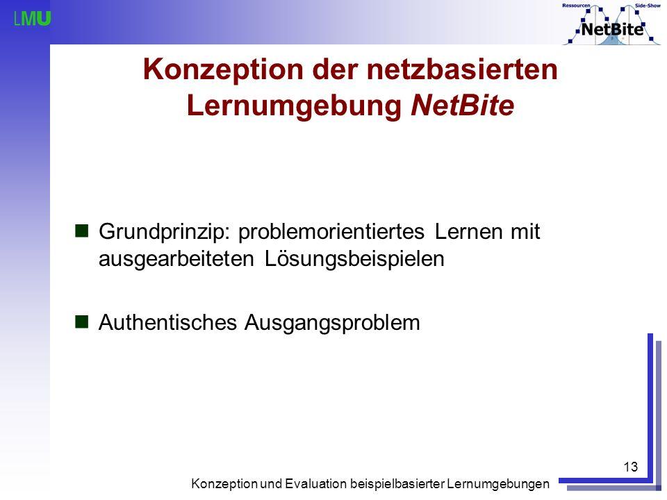 Konzeption der netzbasierten Lernumgebung NetBite