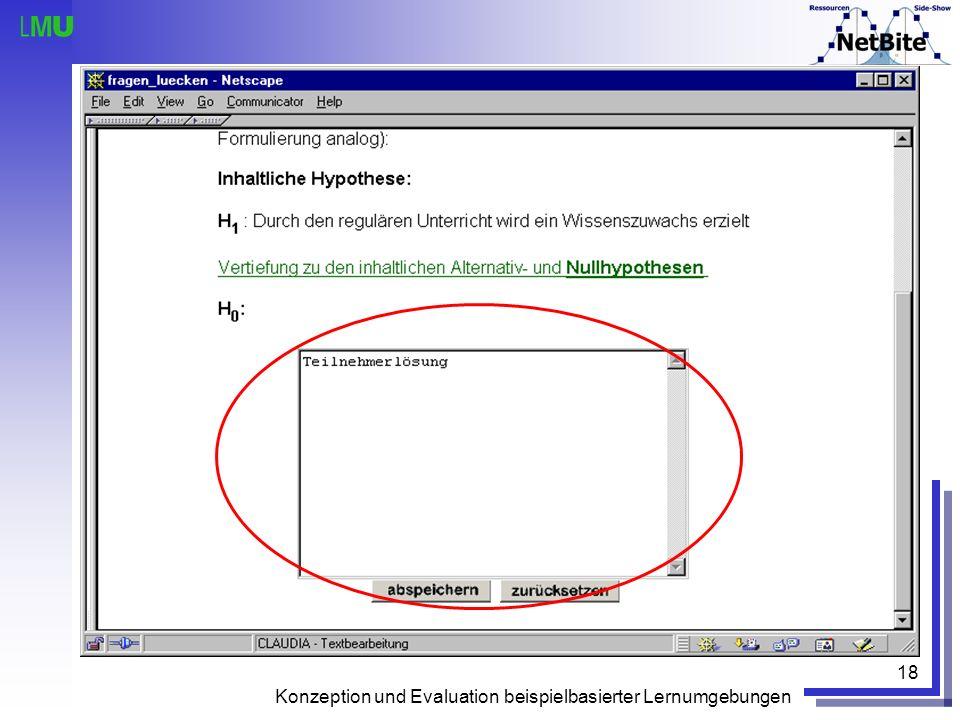 Konzeption und Evaluation beispielbasierter Lernumgebungen