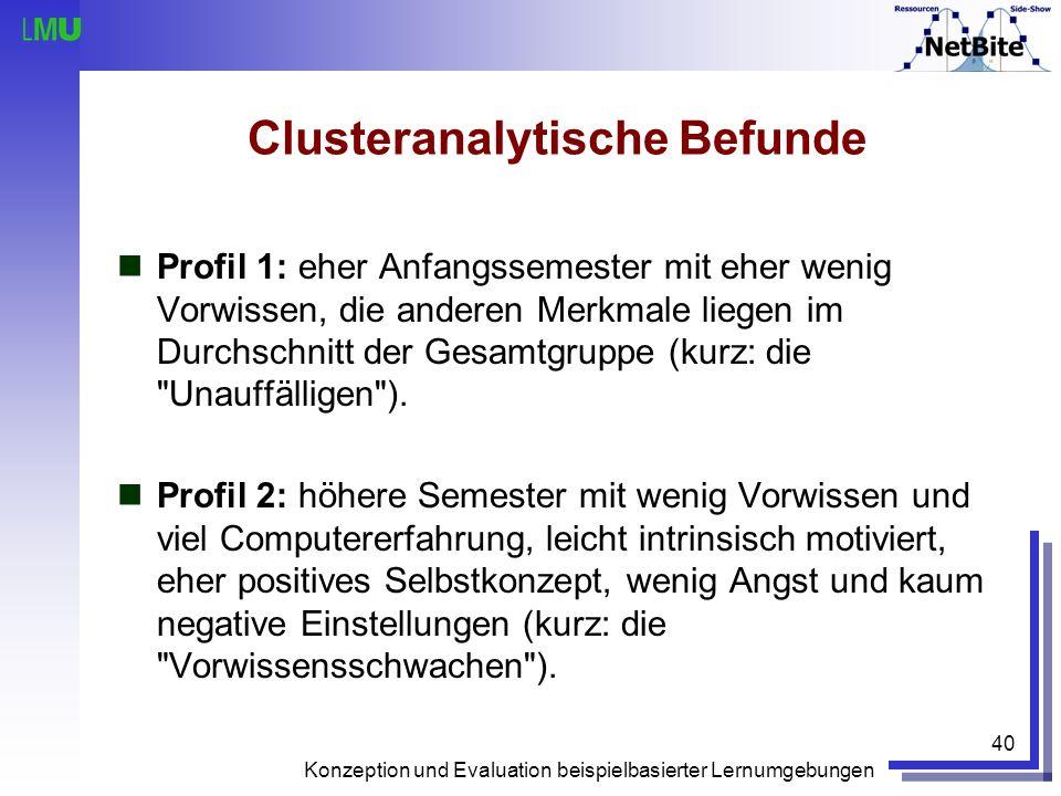 Clusteranalytische Befunde