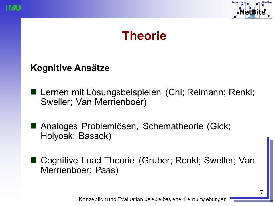 Theorie Kognitive Ansätze