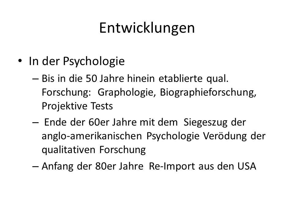 Entwicklungen In der Psychologie
