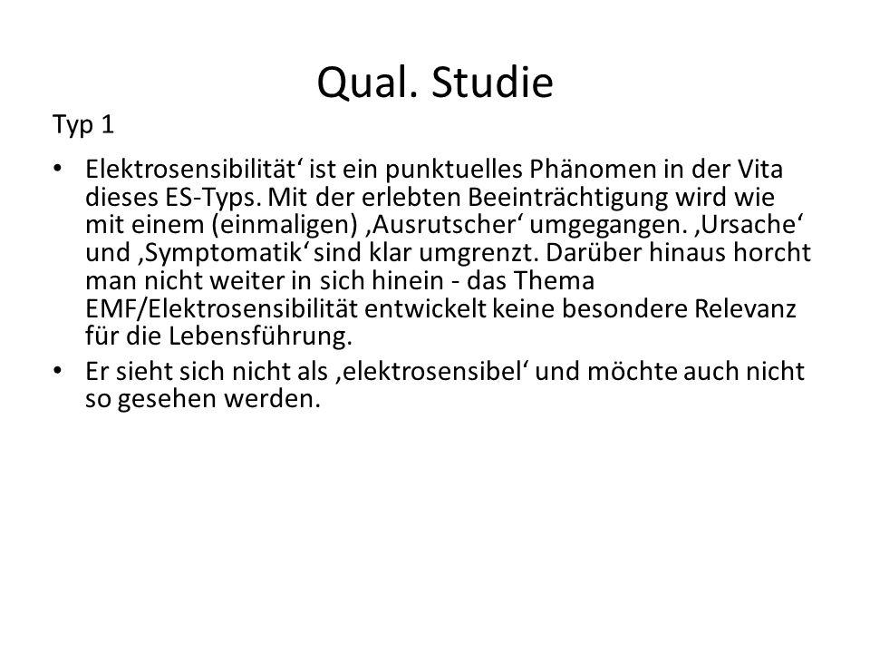 Qual. Studie Typ 1.