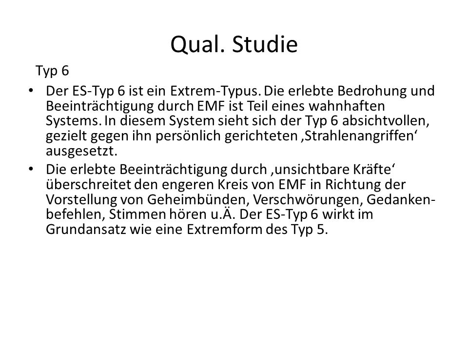 Qual. Studie Typ 6.