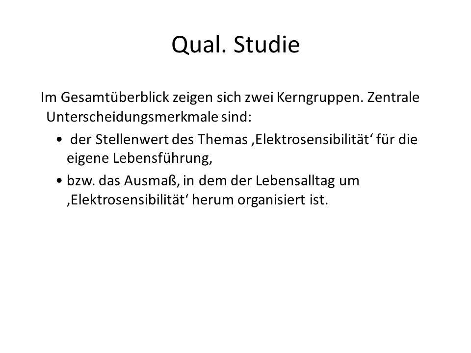 Qual. Studie Im Gesamtüberblick zeigen sich zwei Kerngruppen. Zentrale Unterscheidungsmerkmale sind: