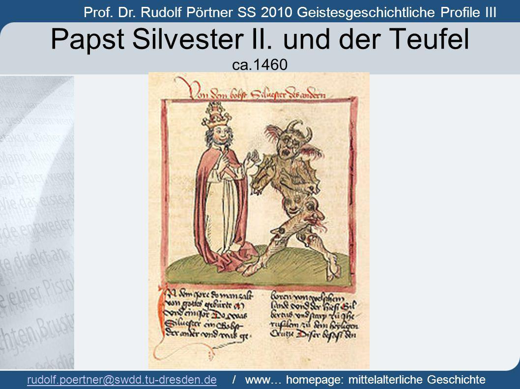 Papst Silvester II. und der Teufel ca.1460