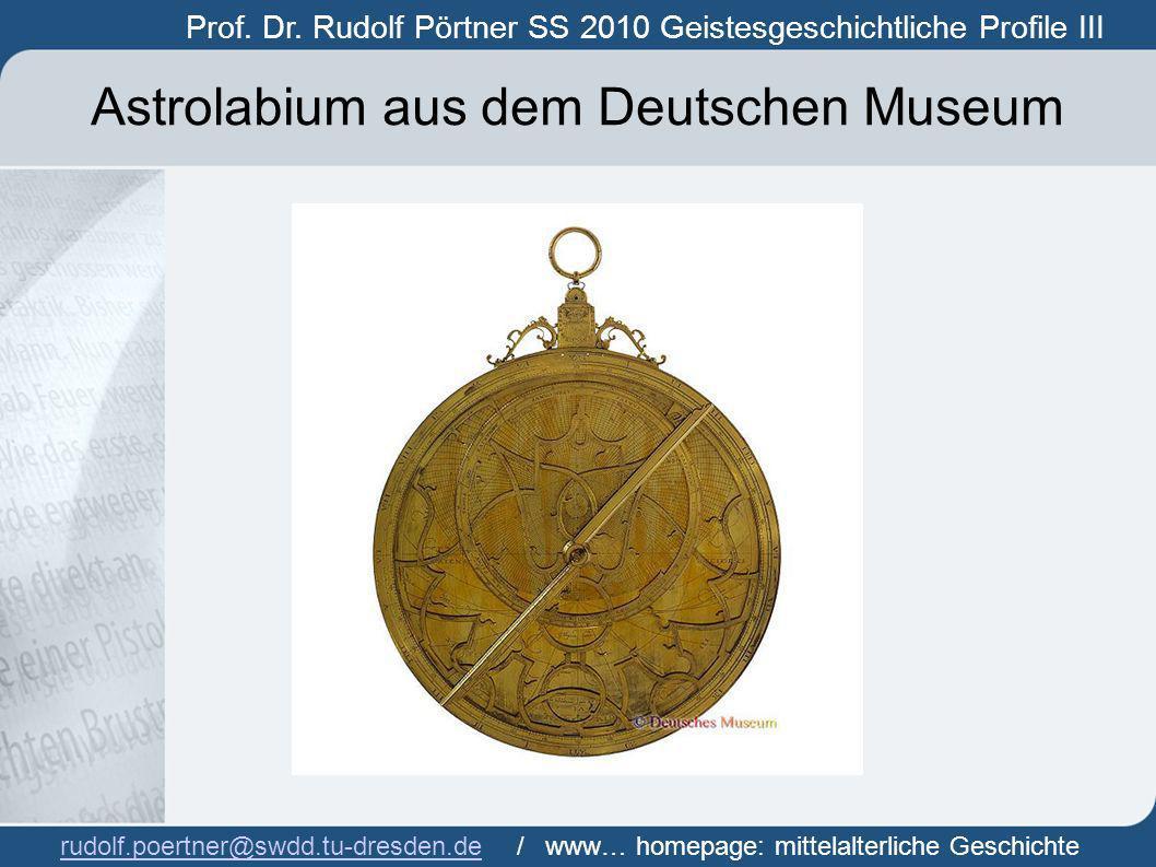 Astrolabium aus dem Deutschen Museum