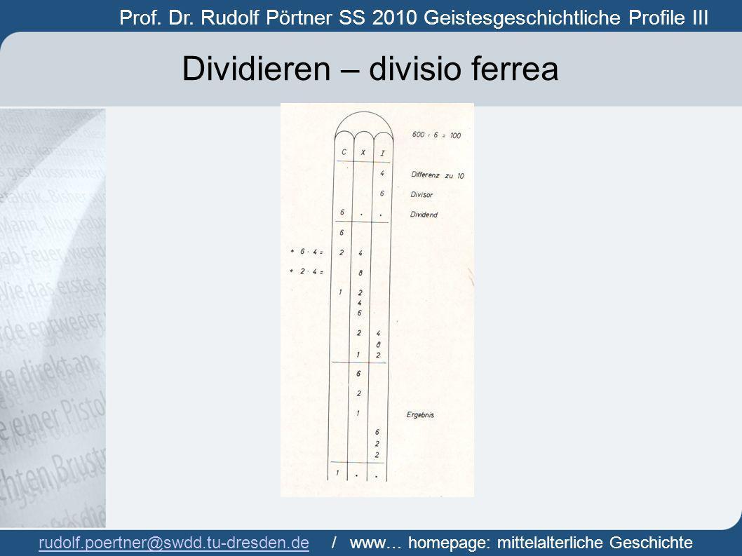 Dividieren – divisio ferrea