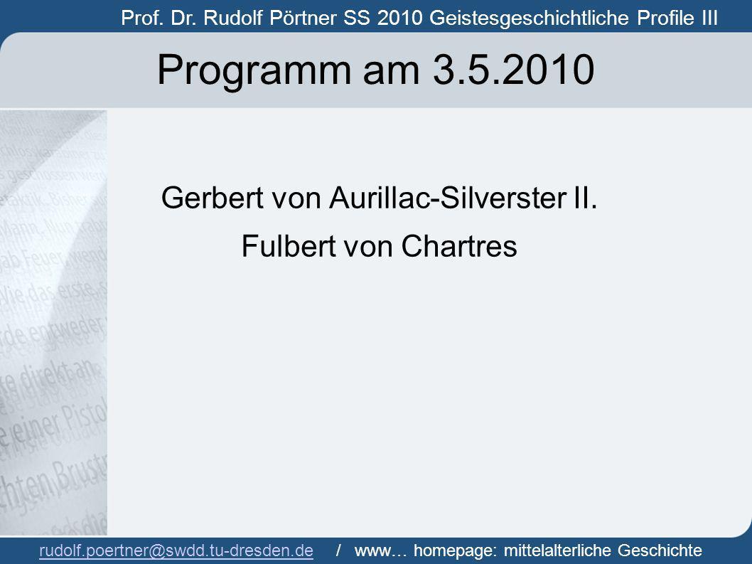 Gerbert von Aurillac-Silverster II.