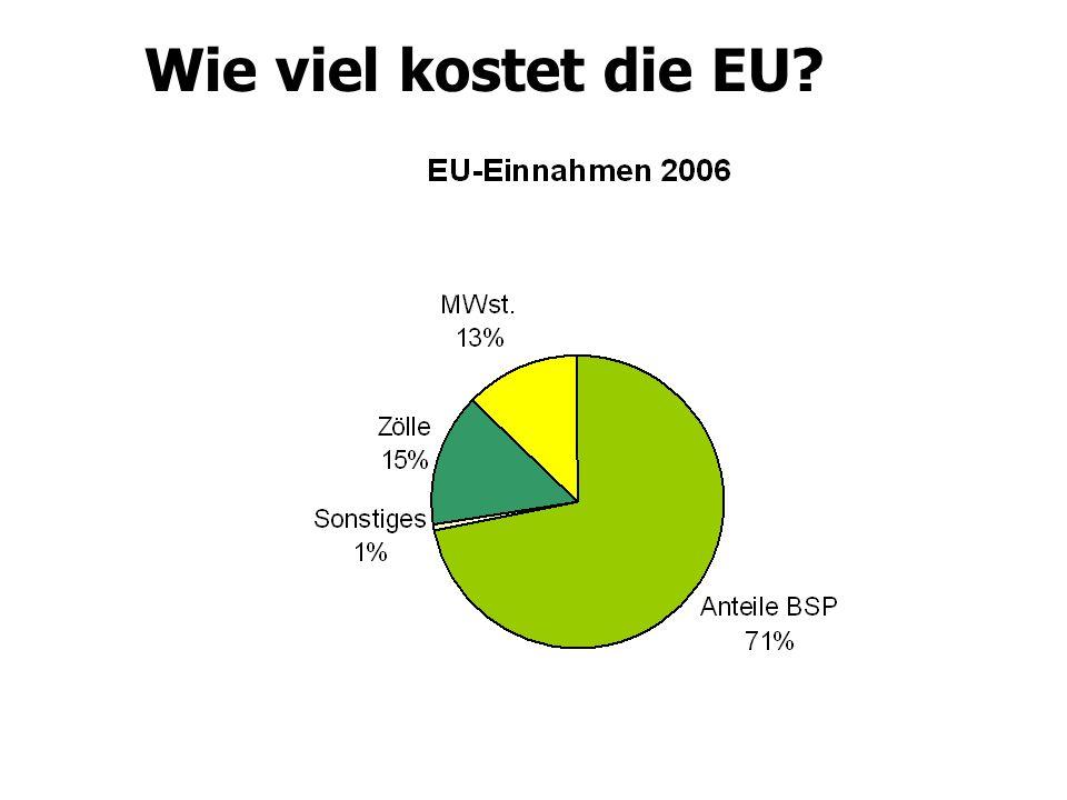 Wie viel kostet die EU
