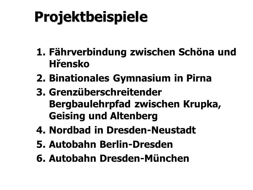 Projektbeispiele Fährverbindung zwischen Schöna und Hřensko
