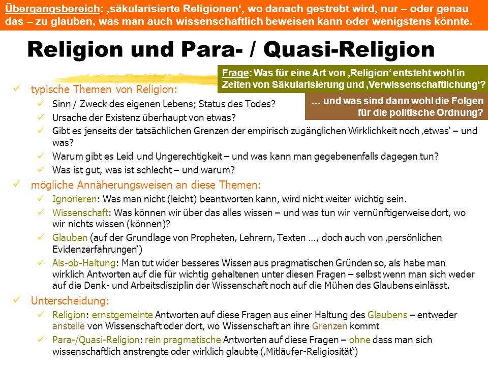Religion und Para- / Quasi-Religion