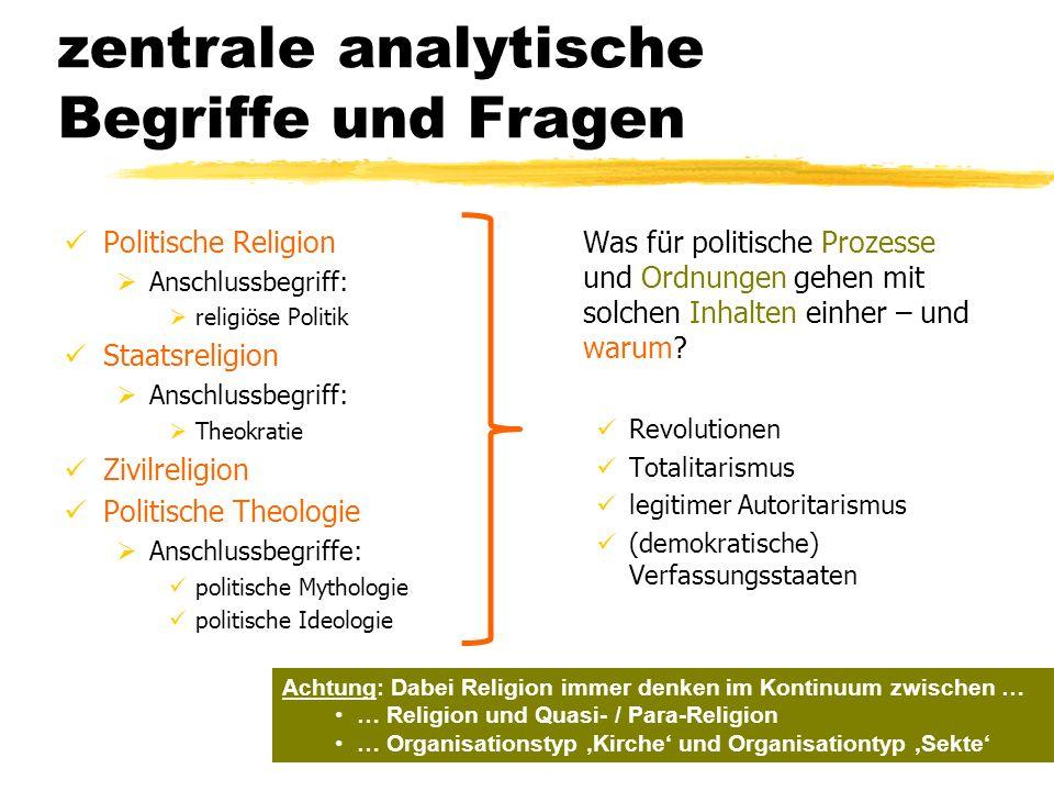 zentrale analytische Begriffe und Fragen