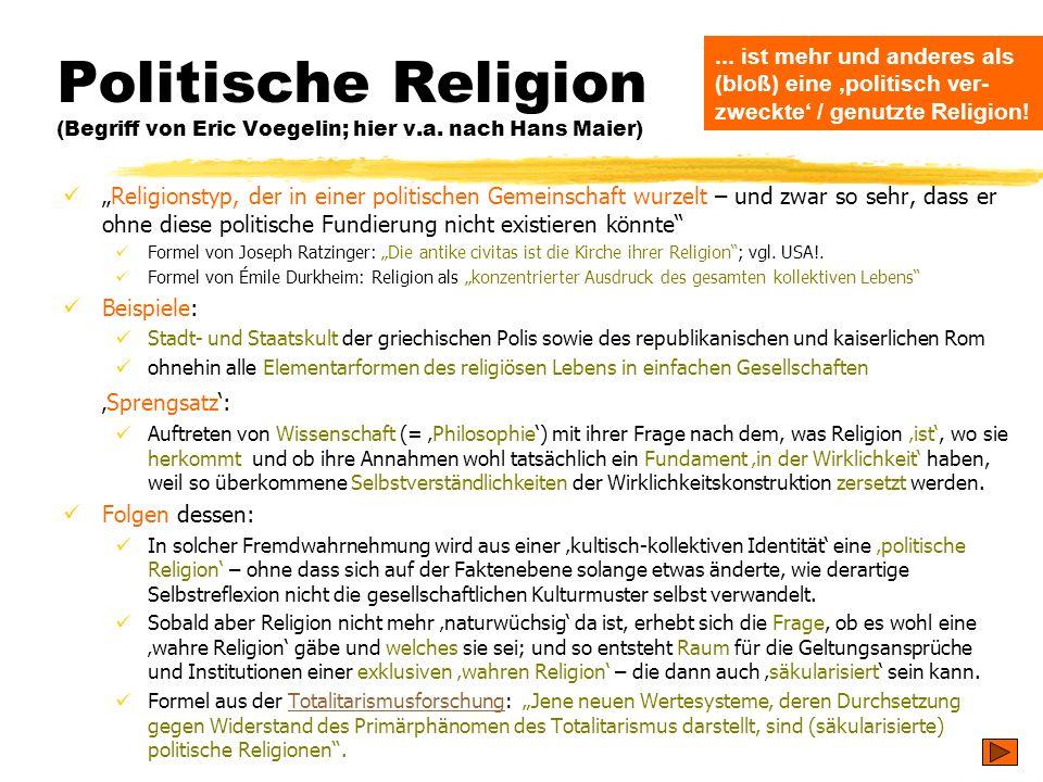 Politische Religion (Begriff von Eric Voegelin; hier v. a