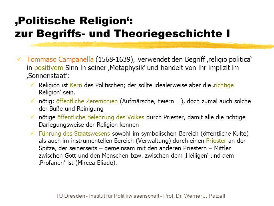'Politische Religion': zur Begriffs- und Theoriegeschichte I