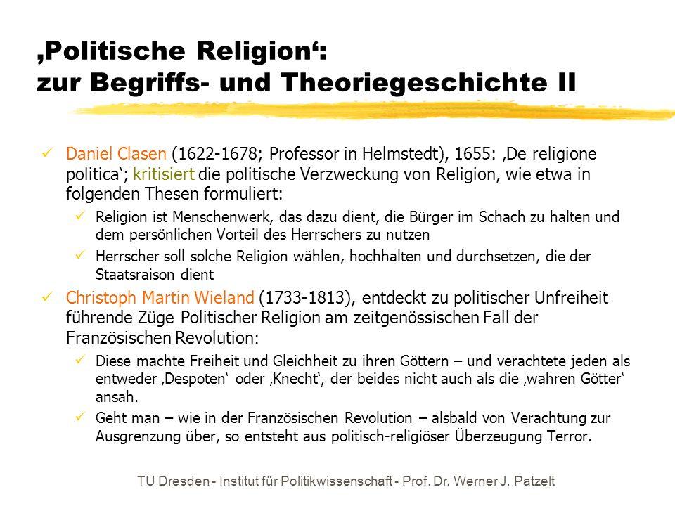 'Politische Religion': zur Begriffs- und Theoriegeschichte II