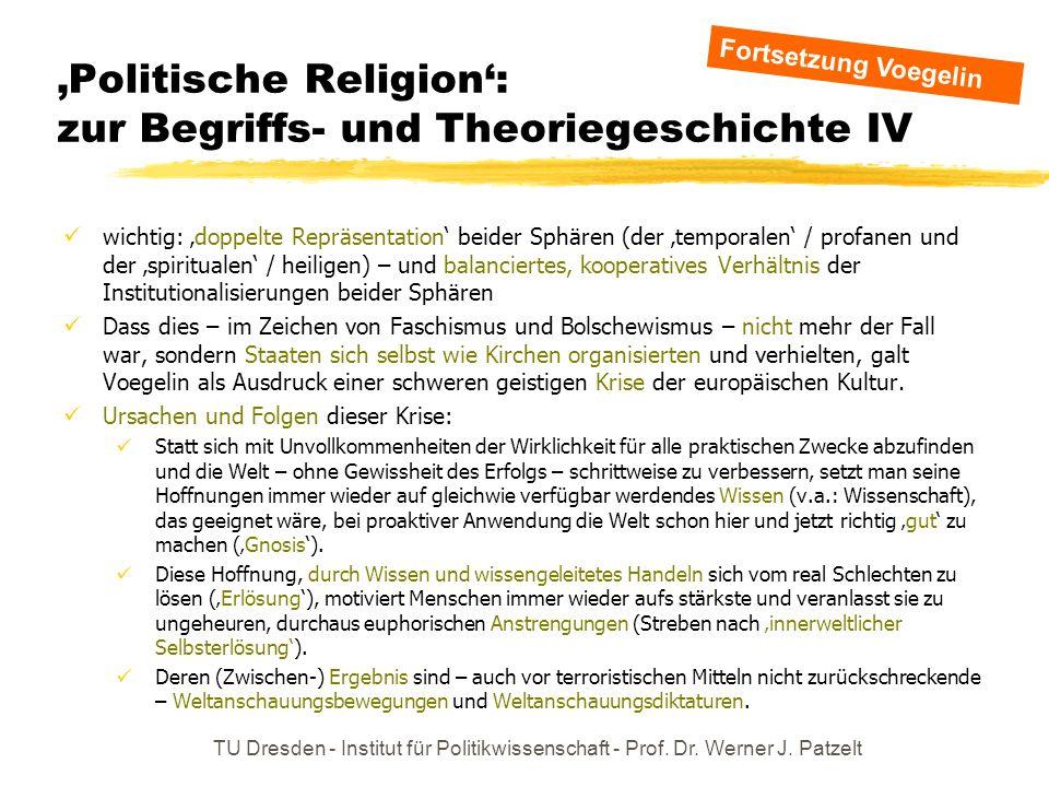 'Politische Religion': zur Begriffs- und Theoriegeschichte IV