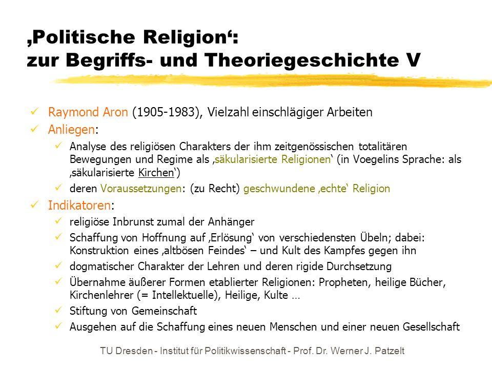 'Politische Religion': zur Begriffs- und Theoriegeschichte V