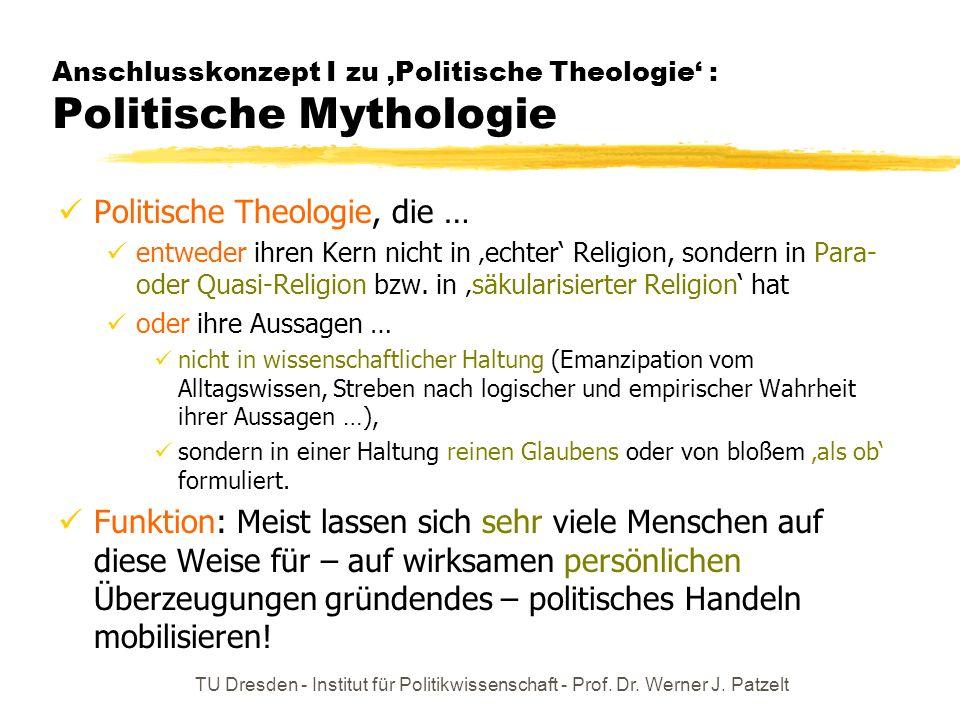 Anschlusskonzept I zu 'Politische Theologie' : Politische Mythologie