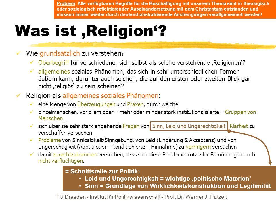 Was ist 'Religion' Wie grundsätzlich zu verstehen