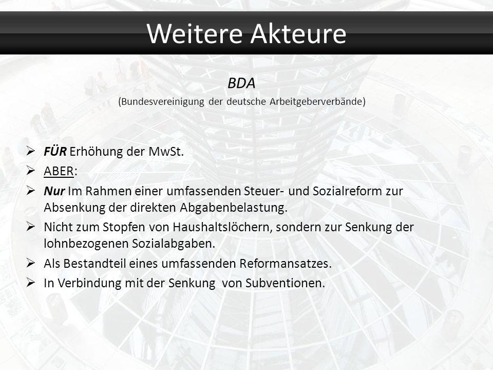 (Bundesvereinigung der deutsche Arbeitgeberverbände)