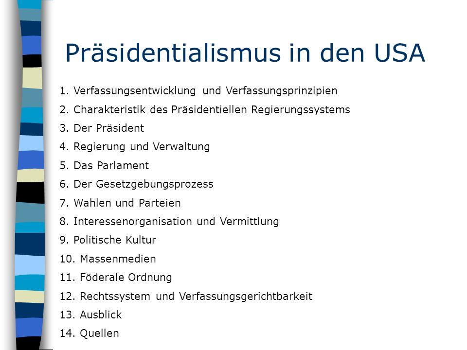 Präsidentialismus in den USA