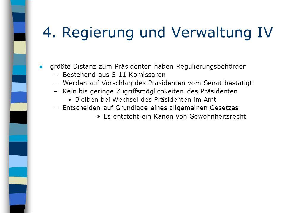 4. Regierung und Verwaltung IV